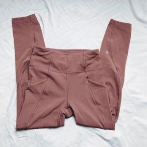 Lululemon Blush Pink Capris Legging